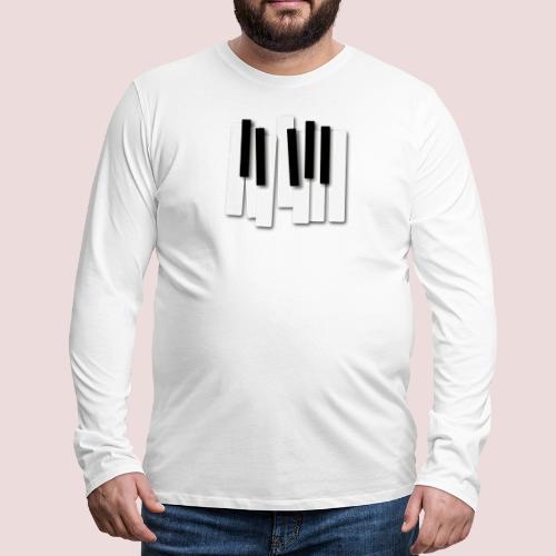 Klaviatur - Långärmad premium-T-shirt herr