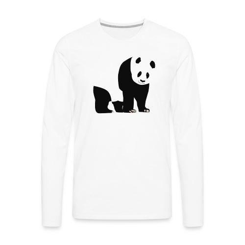 Panda - Miesten premium pitkähihainen t-paita
