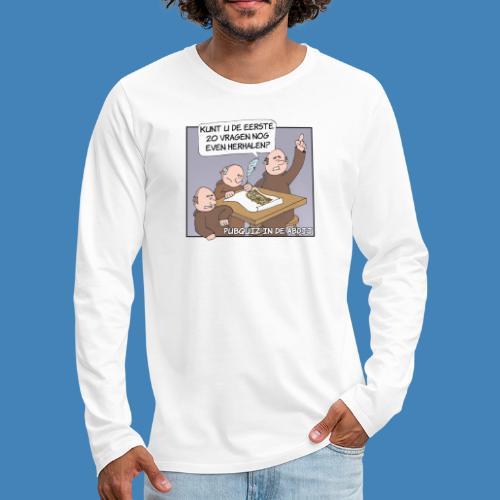 Pubquiz in de Abdij - Mannen Premium shirt met lange mouwen