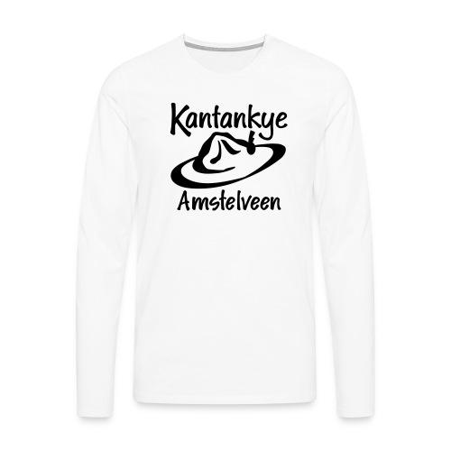 logo naam hoed amstelveen - Mannen Premium shirt met lange mouwen