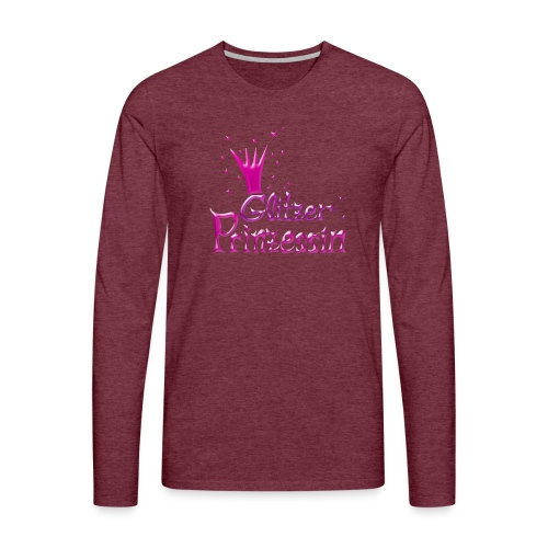 Rosa Glitzer Prinzessin - Männer Premium Langarmshirt