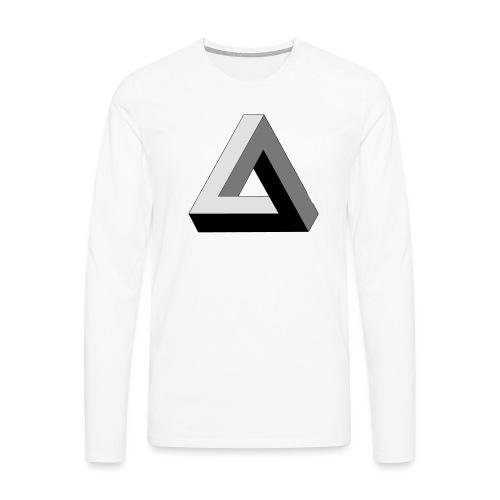 Penrose Dreieck - Männer Premium Langarmshirt
