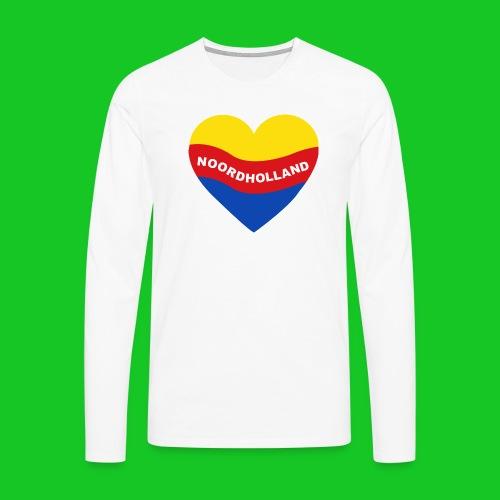 Love Noord Holland Hart.png - Mannen Premium shirt met lange mouwen