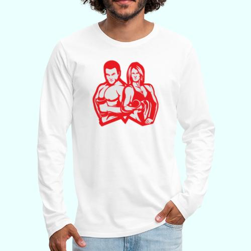 Man & woman NLB - Miesten premium pitkähihainen t-paita