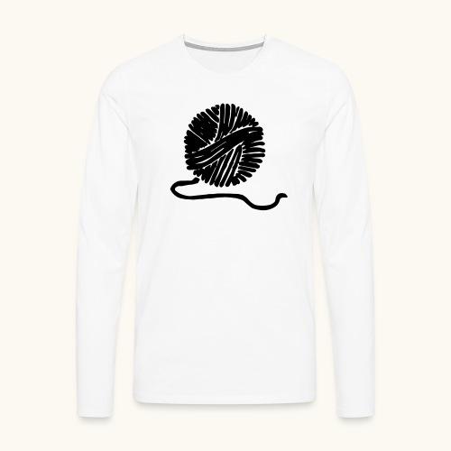 Farbe anpassbar Wollknäuel Vektor Lustig Geschenk - T-shirt manches longues Premium Homme