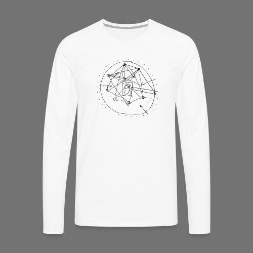 SEO strategia No.1 (musta) - Miesten premium pitkähihainen t-paita