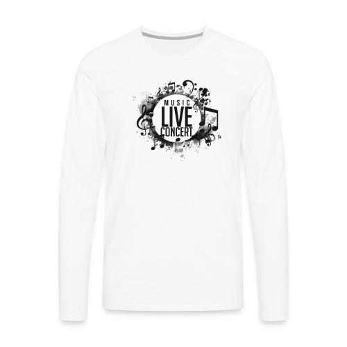 musica - Camiseta de manga larga premium hombre