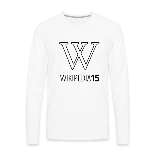 W, rak, vit - Långärmad premium-T-shirt herr