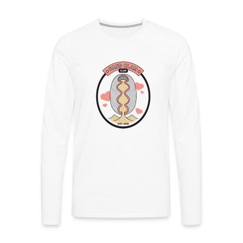 Sand Clam Clan -logokassi - Miesten premium pitkähihainen t-paita