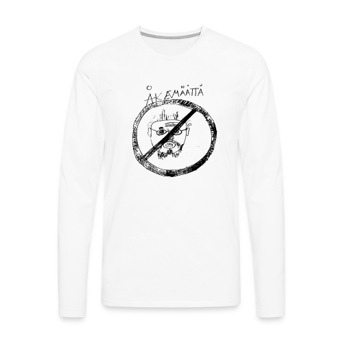 Mättää mugg - Långärmad premium-T-shirt herr