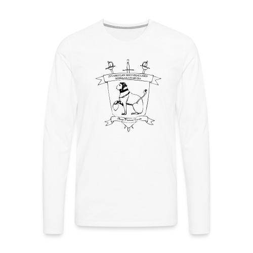 Naisten t-paita, musta logo - Miesten premium pitkähihainen t-paita