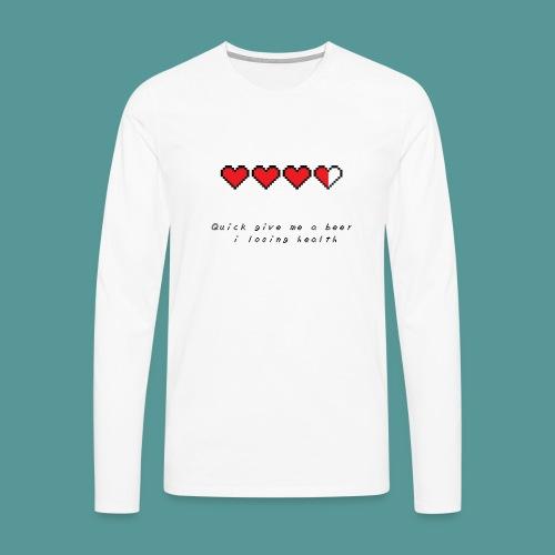 The Legend of Drunk - Mannen Premium shirt met lange mouwen
