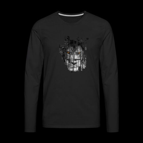 Pixel Lion Tattoo Inspire - Men's Premium Longsleeve Shirt