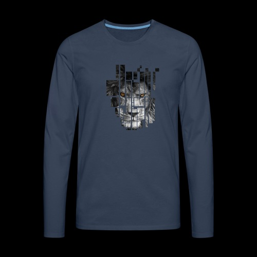 Pixel Lion Tattoo Inspire - Men's Premium Longsleeve Shirt