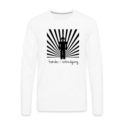 solnedgang trykk - Premium langermet T-skjorte for menn