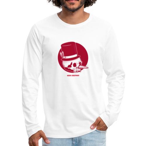 Kerstmis met kerst doodshoofd en hoed - Mannen Premium shirt met lange mouwen