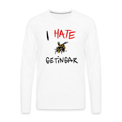 I hate getingar - Långärmad premium-T-shirt herr