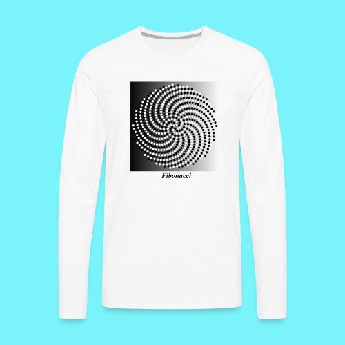Fibonacci spiral pattern in black and white - Men's Premium Longsleeve Shirt