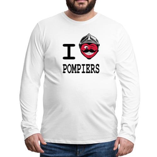 i_love_pompier_4 - T-shirt manches longues Premium Homme