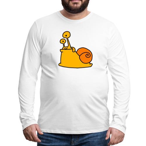 Schnecke Nr 21 von dodocomics - Männer Premium Langarmshirt