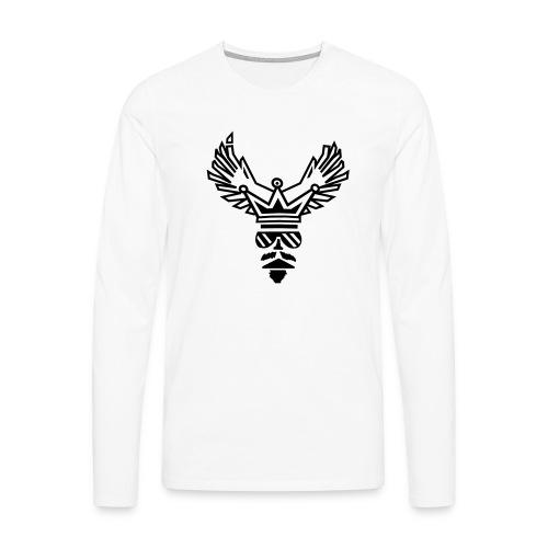 King - Maglietta Premium a manica lunga da uomo