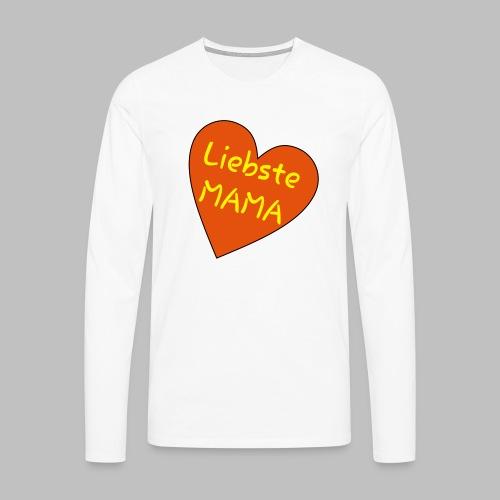 Liebste Mama - Auf Herz ♥ - Männer Premium Langarmshirt