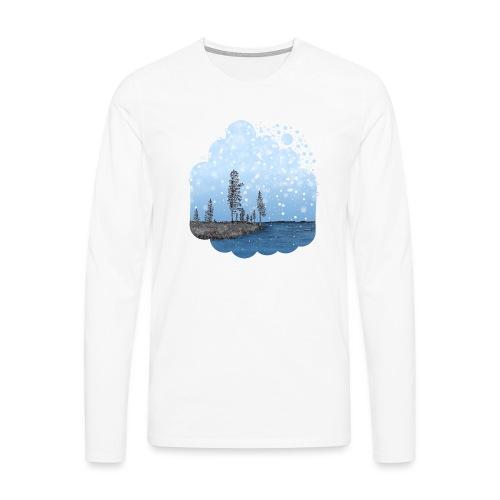 Première neige - T-shirt manches longues Premium Homme