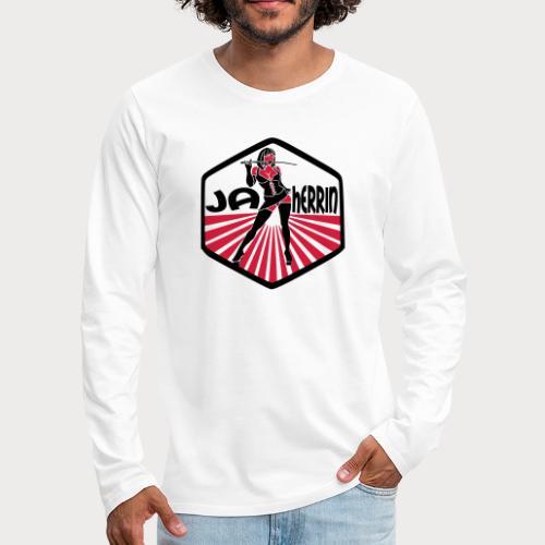 ja herrin retro - Männer Premium Langarmshirt