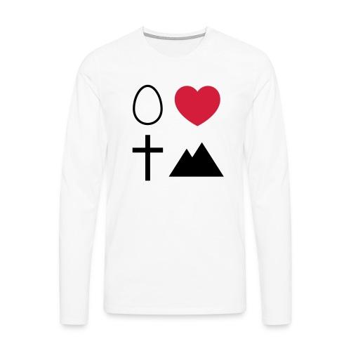 Ei Love Kreuz Berg - Männer Premium Langarmshirt