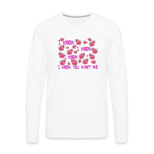 SWINE unisex - Camiseta de manga larga premium hombre