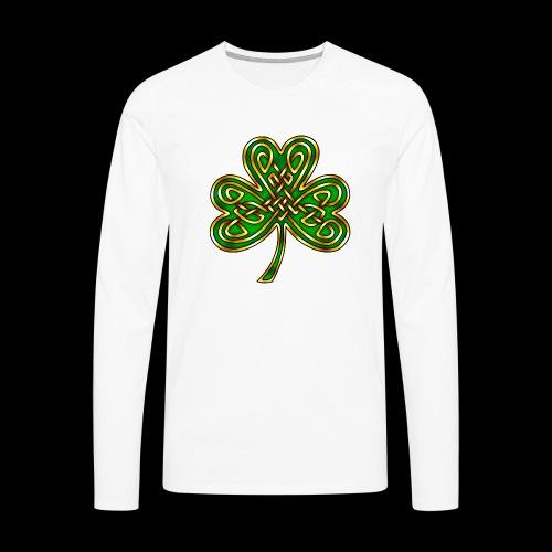 Celtic Knotwork Shamrock - Men's Premium Longsleeve Shirt