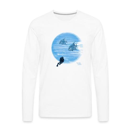 Zilveren visjes - T-shirt manches longues Premium Homme
