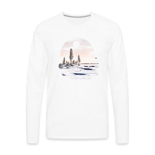 Fonte des glaces - T-shirt manches longues Premium Homme