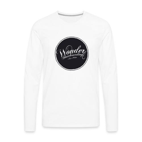 Wonder T-shirt - oldschool logo - Herre premium T-shirt med lange ærmer