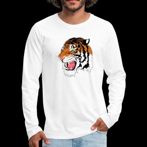Sumatra Tiger - Männer Premium Langarmshirt