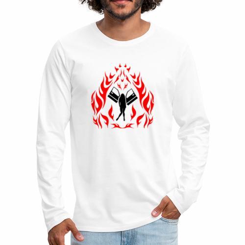 Engel / Flammen - Männer Premium Langarmshirt