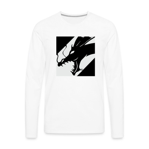 Dragon White - Mannen Premium shirt met lange mouwen