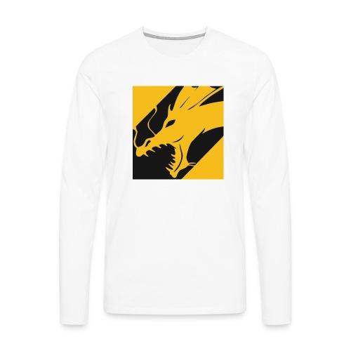 Dragon Yellow - Mannen Premium shirt met lange mouwen