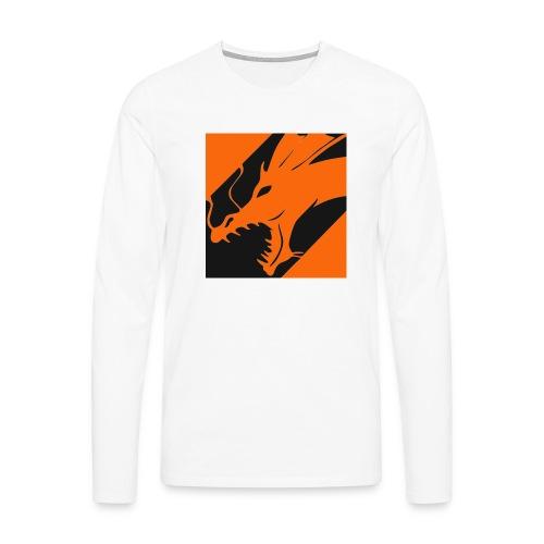 Dragon Orange - Mannen Premium shirt met lange mouwen