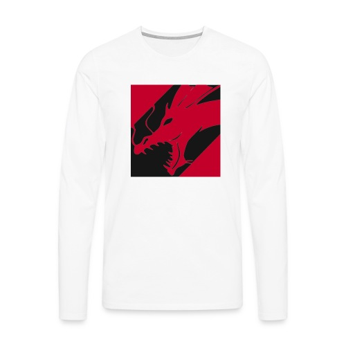 Dragon Red - Mannen Premium shirt met lange mouwen