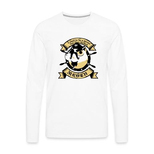 Katze Pirat Spruch - Männer Premium Langarmshirt