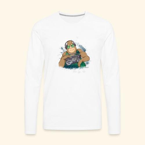 Gorilla Jungle Hiphop - Camiseta de manga larga premium hombre