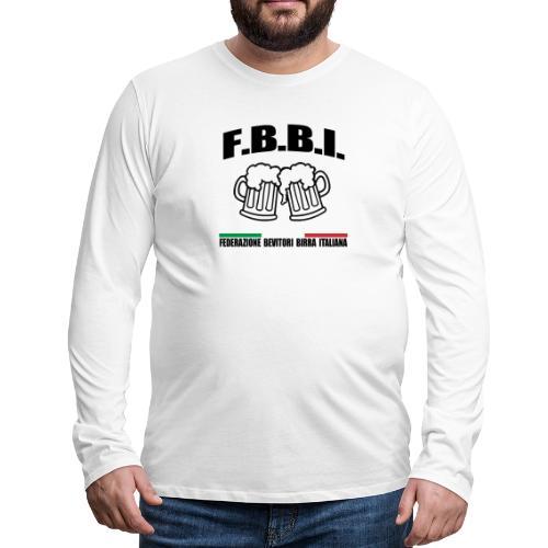FBBI LOGO NERO - Maglietta Premium a manica lunga da uomo