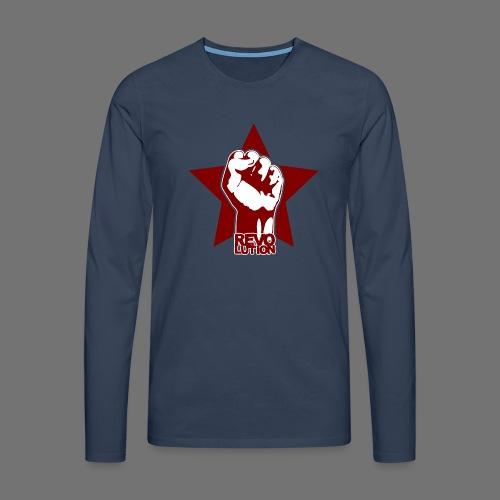 Vallankumous - Miesten premium pitkähihainen t-paita