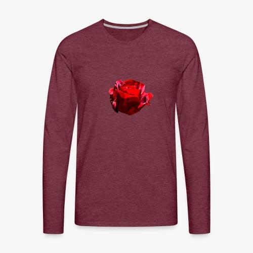 Red Rose - Männer Premium Langarmshirt