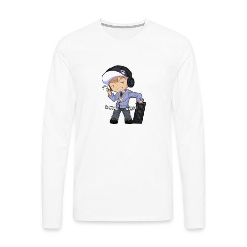 Kapuze Komma Näher mit Text by ShinaiShadow2 png - Männer Premium Langarmshirt