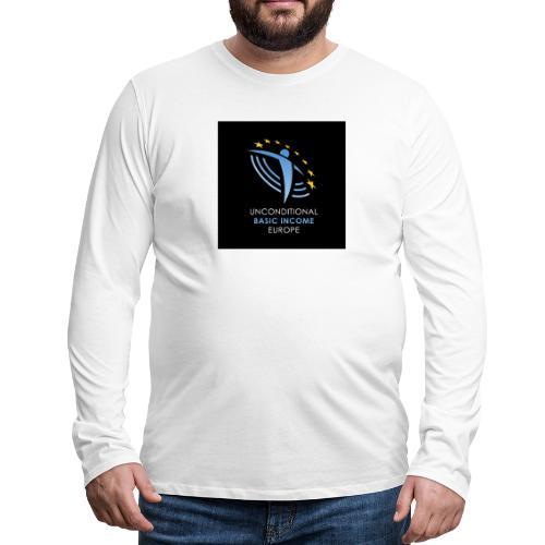 02 ubie on black centered square jpg - Mannen Premium shirt met lange mouwen