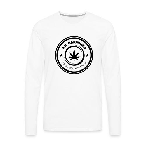 420_Happiness_logo - Herre premium T-shirt med lange ærmer