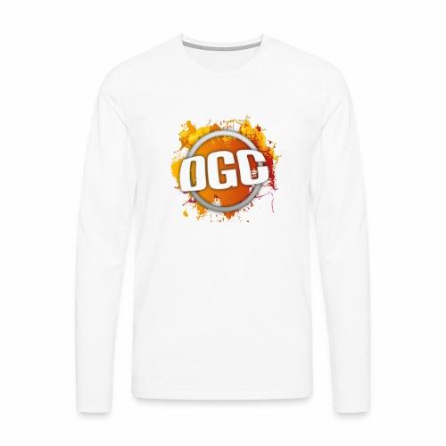 Merchlogo mega png - Mannen Premium shirt met lange mouwen