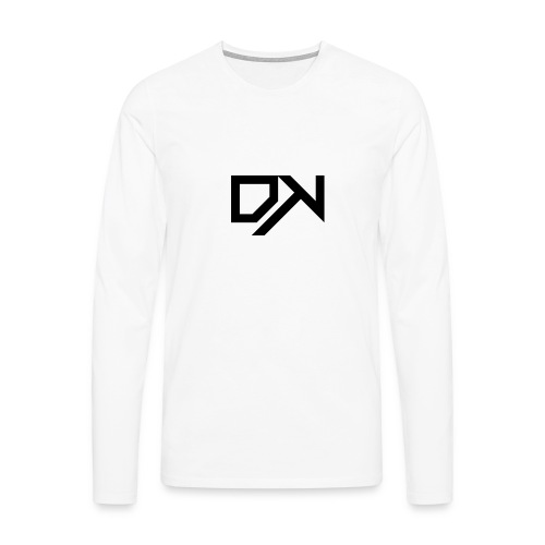 DewKee Logo T-Shirt Black - Men's Premium Longsleeve Shirt